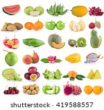 fruits isolated on white...   Shutterstock . vector #419588557
