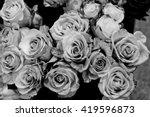 Stock photo black and white roses background 419596873