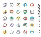 food cool vector icons 9 | Shutterstock .eps vector #419616943