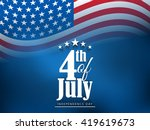 vector illustration of 4th of... | Shutterstock .eps vector #419619673