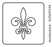fleur de lis symbol. fleur de... | Shutterstock . vector #419645143