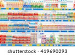 supermarket in blurry for... | Shutterstock . vector #419690293