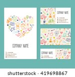 flyer  business card  banner ... | Shutterstock .eps vector #419698867