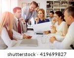successful beautiful... | Shutterstock . vector #419699827