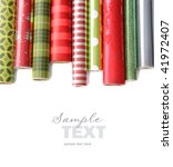 rolls of colored wrapping ... | Shutterstock . vector #41972407