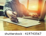 accounting financial close up... | Shutterstock . vector #419743567