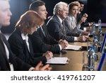 businessman sitting at... | Shutterstock . vector #419761207