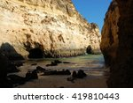 algarve  most famous secrete ... | Shutterstock . vector #419810443