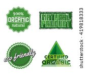 set of organic  natural product ... | Shutterstock .eps vector #419818333