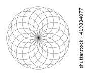 abstract vector illustration.... | Shutterstock .eps vector #419834077