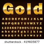 3d illustration of shine gold... | Shutterstock .eps vector #419835877