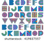 vector colorful graphic... | Shutterstock .eps vector #419837557