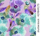 beautiful floral seamless... | Shutterstock . vector #419849173