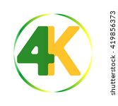 green and yellow 4k logo in...