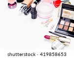 brush and cosmetic isolated on... | Shutterstock . vector #419858653