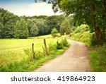 Idyllic Footpath Through Field...