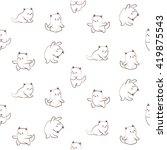 seamless pattern of cute cat...   Shutterstock .eps vector #419875543