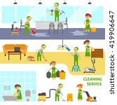 cleaning service infographic... | Shutterstock .eps vector #419906647