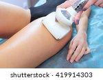 closeup vacuum roller massage...   Shutterstock . vector #419914303