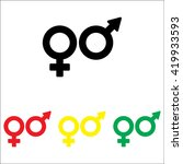 web line icon. gender symbol ... | Shutterstock .eps vector #419933593