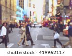 rush hour with defocused of... | Shutterstock . vector #419962117