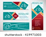bicycle icon on horizontal and... | Shutterstock .eps vector #419971003
