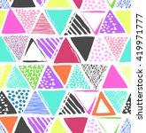 colorful triangles print  ... | Shutterstock .eps vector #419971777