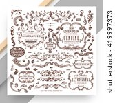 set of vintage decorations... | Shutterstock .eps vector #419997373