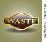 waste gold shiny badge | Shutterstock .eps vector #420007453