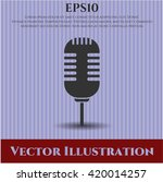 microphone vector icon | Shutterstock .eps vector #420014257