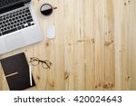 view from above of office... | Shutterstock . vector #420024643