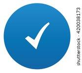 checking icon design on blue...