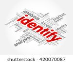 identify word cloud  business... | Shutterstock .eps vector #420070087