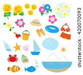 summer image  sea set | Shutterstock . vector #420070093