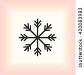 snowflake icon | Shutterstock .eps vector #420083983