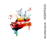 Colorful Music Background Wit...