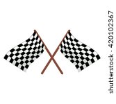 checkered racing flags... | Shutterstock .eps vector #420102367