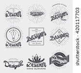 designer   insignia sticker can ... | Shutterstock . vector #420117703
