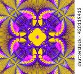 abstract kaleidoscope effect... | Shutterstock . vector #420119413