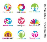 Family Logo Circle Art Vector...