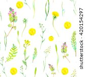 watercolor seamless floral... | Shutterstock . vector #420154297