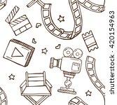hand drawn doodle cinema... | Shutterstock .eps vector #420154963