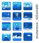 disaster  vector icons | Shutterstock .eps vector #420161683