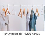 nothing to wear pastel color... | Shutterstock . vector #420173437