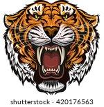saber toothed tiger | Shutterstock .eps vector #420176563