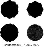 stamps collection. grunge... | Shutterstock .eps vector #420177073