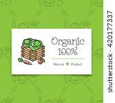 organic food and farming logo... | Shutterstock .eps vector #420177337