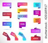 vector stickers  price tag ... | Shutterstock .eps vector #420185917