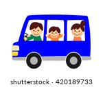 family to enjoy the drive | Shutterstock . vector #420189733