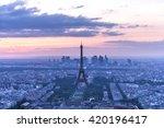 eiffel tower at sunset. paris ... | Shutterstock . vector #420196417